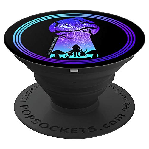 Alice in Wonderland - Cheshire Cat - White Rabbit - PopSockets Grip and Stand for Phones and Tablets -