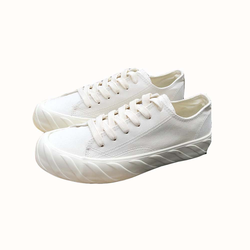 Tonigue Zapatos De Lona Estudiantes Femeninos Harajuku Wild Flat Ins Zapatos Zapatos Shoesuk3-UK7 EU39UK6|White