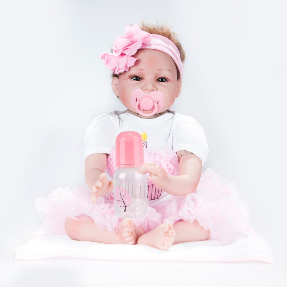 2019新作モデル QXMEI 22インチ リボーンベビードール シミュレーション 55cm 22インチ シリコンラグ人形 おもちゃ 早期教育 赤ちゃん小道具 女の子 誕生日ギフト 誕生日ギフト 55cm B07GN6FW37, パネル王国:c3b4eeda --- pmod.ru