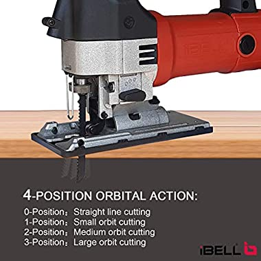 IBELL Professional JIG Saw with LED, 700W, Carrying Case, 3 Blades, 84 Inches Cord 8