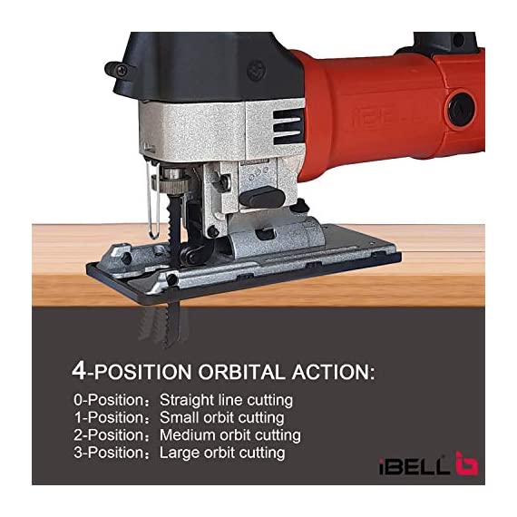 IBELL Professional JIG Saw with LED, 700W, Carrying Case, 3 Blades, 84 Inches Cord 3
