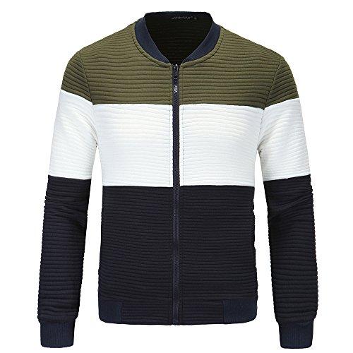 Tops Estación ropa Otoño Chaqueta Coat amp;S Verde Collar hombres MEI Los XXXL Invierno Casual AzqPT