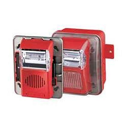 gentex wgec24-75wr 24vdc outdoor horn & strobe combination kit - red  faceplate - combination smoke carbon monoxide detectors - amazon com