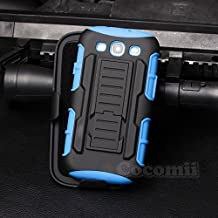 Galaxy S3 Case, Cocomii Robot Armor NEW [Heavy Duty] Premium Belt Clip Holster Kickstand Shockproof Hard Bumper Shell [Military Defender] Full Body Dual Layer Rugged Cover For Samsung I9300 R530X (Blue)