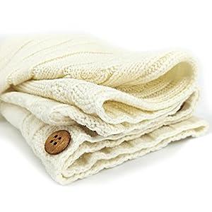 XMWEALTHY Newborn Baby Wrap Swaddle Blanket Knit Sleeping Bag Sleep Sack Stroller Wrap for Baby(Beige) (0-6 Month)