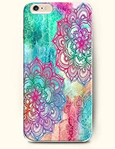 Clolorful Floral Pattern - Rainbow Color Series - Phone Cover for Apple iPhone 6 Plus ( 5.5 inches ) - OOFIT Authentic iPhone Case by lolosakes by lolosakes