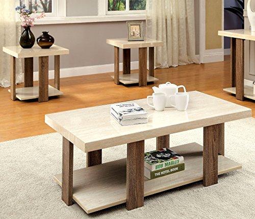 Furniture of America Oslo 3-Piece Modern Accent Tables Set, Light Oak