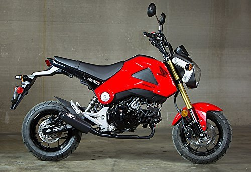 14-19 HONDA Grom: M4 Low Mount Ceramic Full System Exhaust (Black - Exhaust Honda System
