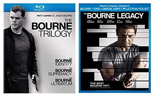 (The Bourne Ultimate Collection 5-Disc Blu ray Set - The Bourne Identity/ The Bourne Supremacy/ The Bourne Ultimatum/ The Bourne Legacy)