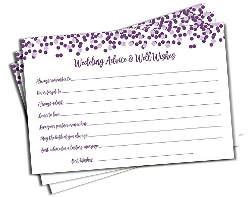 Price comparison product image Wedding Advice and Well Wishes - Purple Confetti (50-cards)