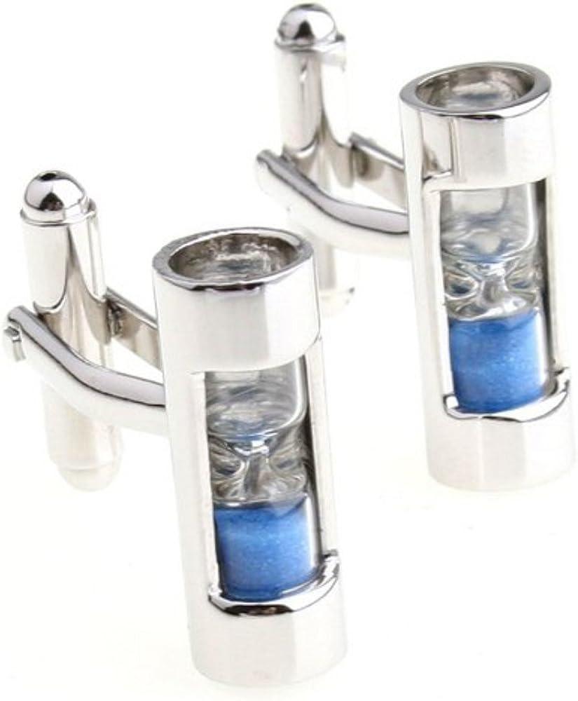 Albetro Sand Timer Hourglass Steampunk Cufflinks for men