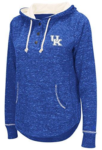Colosseum Kentucky Wildcats Women's NCAA Sunset Hooded Henley Sweatshirt