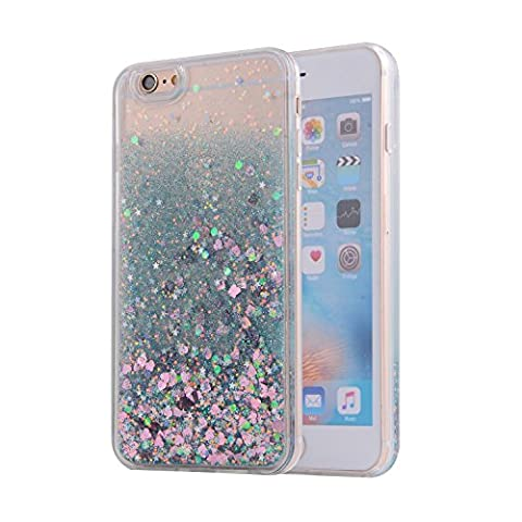 iPhone 6S Case, SAUS iPhone 6 Case, Funny Liquid Infused with Floating Bling Glitter Sparkle Dynamic Flowing Hybrid Bumper Case for iPhone 6/6S (Speck Like Iphone 5s Case)