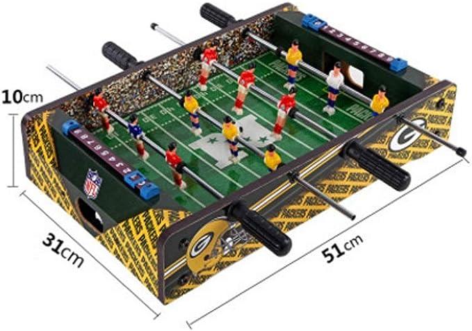 YQSHYP Gran Mesa de Fútbol, Adulto/Tabla Secundaria Family Game Consola de Juegos de Habitaciones Bar Entretenimiento Partido de fútbol Tamaño 51 x 31 x 10 cm ...