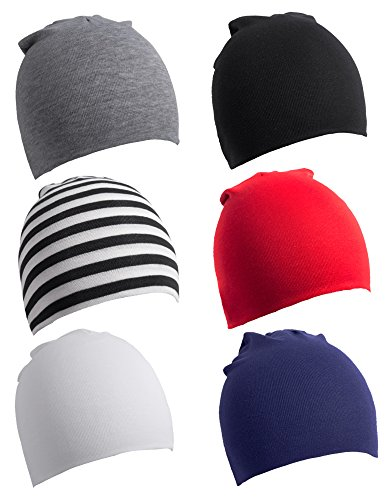 6 Pack Toddler Infant Baby Cotton Soft Cute Knit Kids Hat Beanies ()