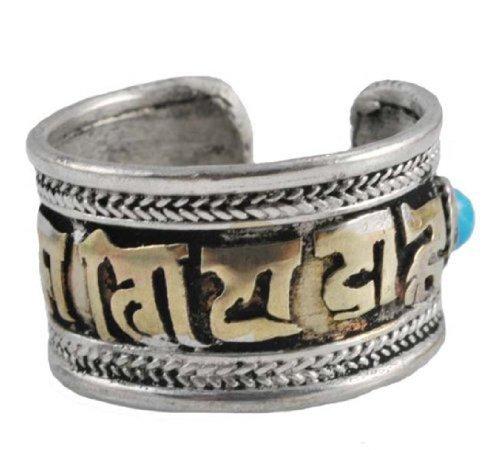 White Metal Brass Om Mani Padme Hum Tibetan ()