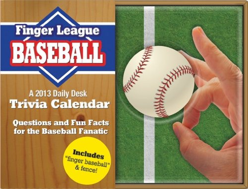 Mlb Circle - Orange Circle 2013 Daily Desk Calendar, Finger Baseball (11520)