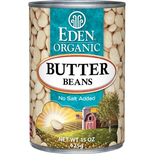Eden Organic Butter Beans, No Salt Added, 15-Ounce Cans (Pack of 12)