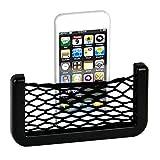 Car Seat Side Back Pocket Storage Organizer Nylon Net Bag Phone Holder Pocket Organizer Black (20 cm X 8 cm)