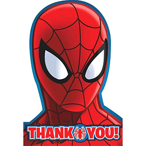 8 Count Spider-Man Postcard Thank You Notes, Multicolored for $<!--$4.99-->
