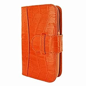 Piel Frama 687 Orange Crocodile Leather Wallet for Apple iPhone 6 Plus / 6S Plus / 7 Plus / 8 Plus