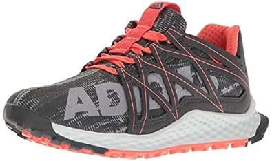 adidas Performance Women's Vigor Bounce w Trail Runner, Grey/Dark Shale/Easy Coral, 5 M US