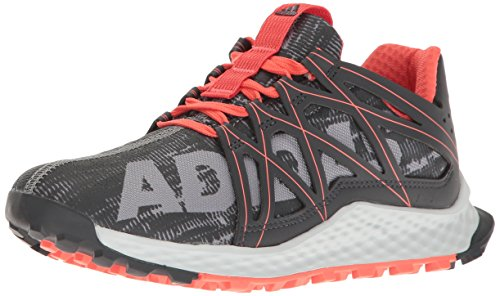 adidas Performance Women's Vigor Bounce w Trail Runner, Grey/Dark Shale/Easy Coral, 10.5 M US