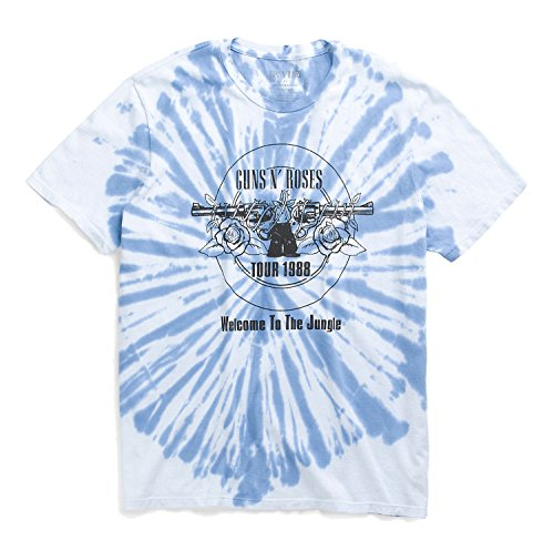 Lucky Bootleg - Lucky Brand - Bue 1988 Bootleg Jungle Guns n' Roses Tye Dye T-Shirt (Large)