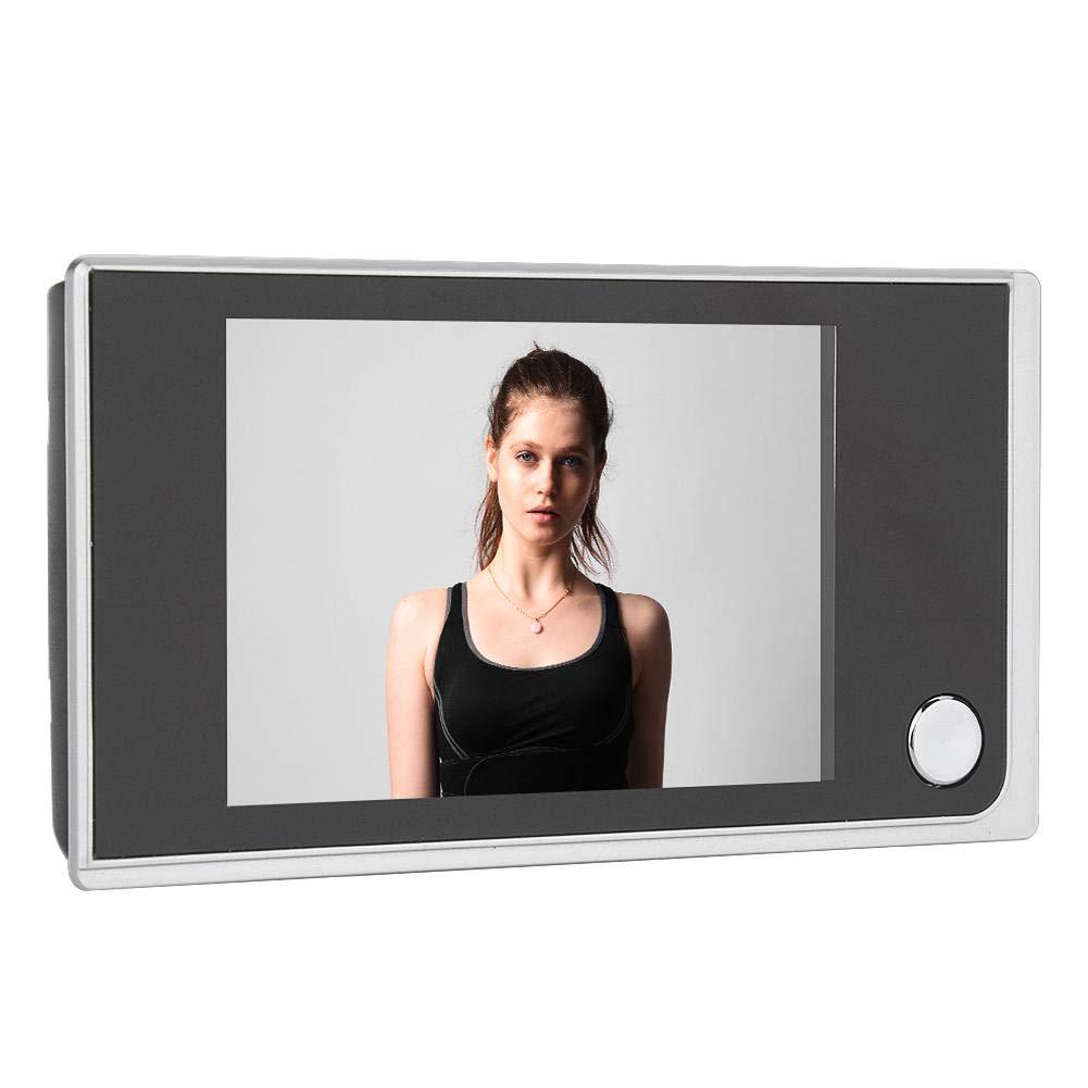 Timbre de la c/ámara Pantalla LCD Digital de 3.5Visor de Mirilla de Puerta de 120 Grados Foto Monitoreo Visual C/ámara de Seguridad electr/ónica