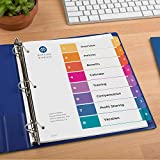 Avery Eco-Friendly 8 Tab Dividers for 3 Ring