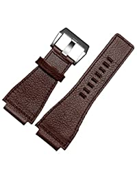Brown Leather Watch Strap 24mm Suitable BR01 BR03 Bell&Ross MILITARY Band Buckle