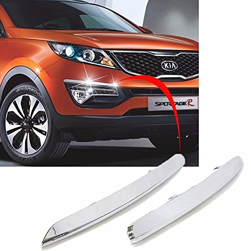 Sell by Automotiveapple, OEM Genuine Chrome Front Bumper EyeLine Molding Garnish 2p For 2011-2015 Kia Sportage