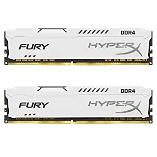 Kingston Technology HyperX Fury White 32GB 2400MHz DDR4 CL15 DIMM Kit of 2 (HX424C15FWK2/32) (B06XNPN1MF) | Amazon price tracker / tracking, Amazon price history charts, Amazon price watches, Amazon price drop alerts