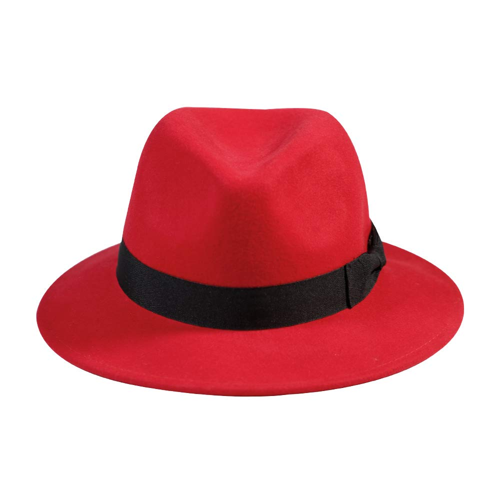471a7005b Samplife Wool Fedora Hat-Womens Felt Floppy Panama Hats Vintage ...