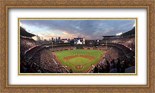 - Turner Field 2X Matted 40x24 Large Gold Ornate Framed Art Print from The Stadium Series