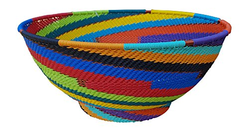 Stunning Basket Bowl – Handmade in Africa (Fair Trade) – Large Round – African Spirit