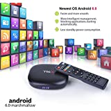 M9C Pro Android TV Box 6.0 4K Amlogic S905X Chipset-Quad Core ]Support Ultra-Fast Smart TV Box (Black 1G + 8GB)