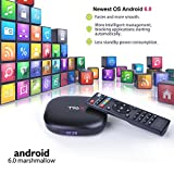 M9C Pro Android TV Box 6.0 4K Amlogic S905X Chipset-Quad Core Support Ultra-Fast Smart TV Box (Black 1G + 8GB)