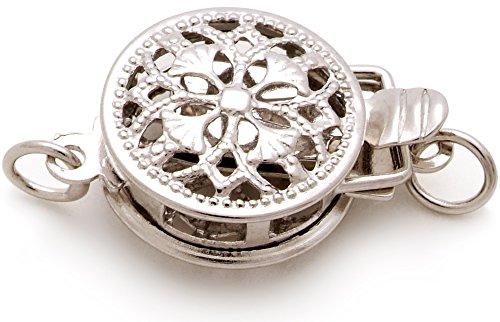 PearlsOnly - Noir 8-8.5mm AAA-qualité Akoya du Japon 925/1000 Argent-Bracelet de perles