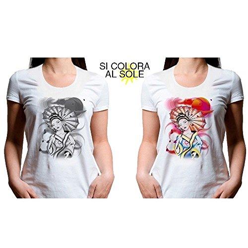 T shirt Maglie lica1 shirt Magliettina Donna Taglia Sole Colora Magliette Si Girocollo Al C Che Xxl prqxAvp