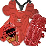 MacGregor Baseball Catchers Gear with Rawlings Helmet - Junior Color: Scarlet