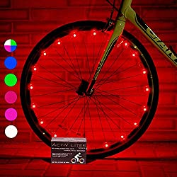 Super Cool Bicycle Tire Lights (1 Wheel, Red) Hot LED Bday Gift Ideas & Christmas Presents - Popular Black Friday and Cyber Monday Deal for Men, Women, Kids & Fun Teens - Cheap Discount Sale