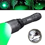 VASTFIRE Hunting Light 1000 Lumen Bright CREE Green LED Flashlight for Bow Hog Rabbit Coyote Pig Varmint Predator Night Hunting (Gray) Review