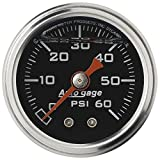 Auto Meter 2173 Auto Gage 1-1/2-Inch 0-60 PSI Mechanical Fuel Pressure Gauge