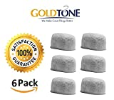 : GoldTone (TM) Brand Replacement Charcoal Water Filter Cartridges for Keurig Classic and 2.0 Coffee Maker Machines - 6 Pack