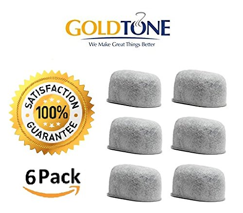 GoldTone (TM) Brand Replacement Charcoal Water Filter Cartridges for Keurig Classic and 2.0 Coffee Maker Machines - 6 - Refill Cartridge Filter