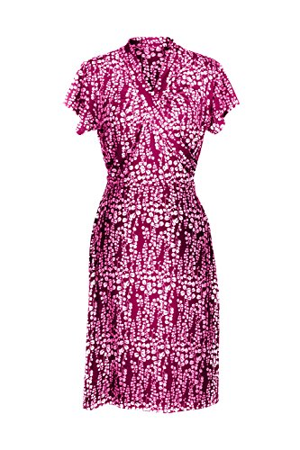 G2 Chic Women's Spring Summer Casual Printed Patterned Stretch Midi Dress(DRS-CAS,DPKA3-S)