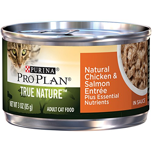 Purina Pro Plan True Nature Natural Chicken & Salmon Entree In Sauce Adult Wet Cat Food - (24) 3 Oz. Pull-Top Cans