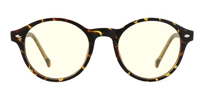 920258cf54 TIJN Lunettes anti Lumière bleue Anti fatigue oculaire Ronde Optique  Monture Lunettes de vue pour Ordinateur