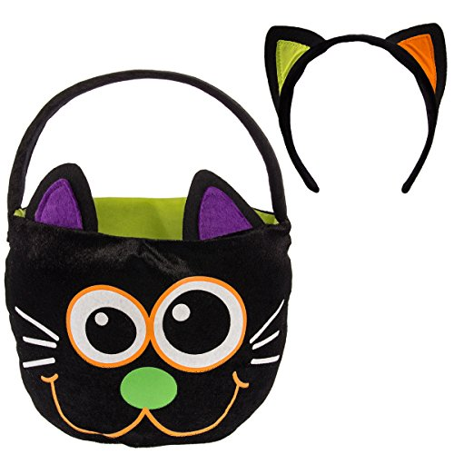 China Themed Costume (Dan Dee Halloween Plush Kids Trick Or Treat Basket Candy Bag & Costume Headband)